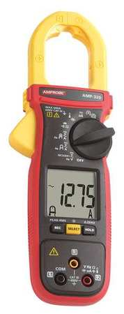 Clamp Meter 600A 1 3/8inCap With Thrmcpl by USA Amprobe Electrical Clamp Meters