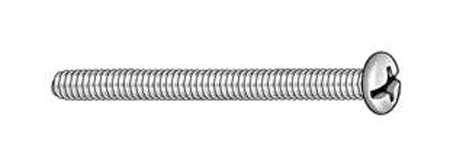 "FABORY U51110.019.0100 #10-24 x 1/"" Flat Head Slotted Machine Screw 100 pk."