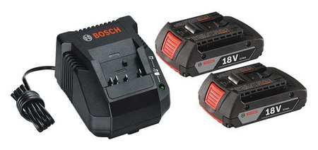 Battery and Charger Kit,18V,2.0Ah,Li-Ion