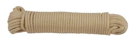 Value Brand Rope Cotton 1/4in Dia 100 ft.