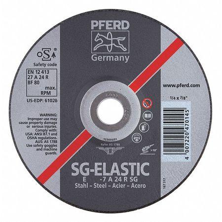 Abrasive Cut-Off Wheel,4-1/2in,24 Grit -  PFERD, 61026