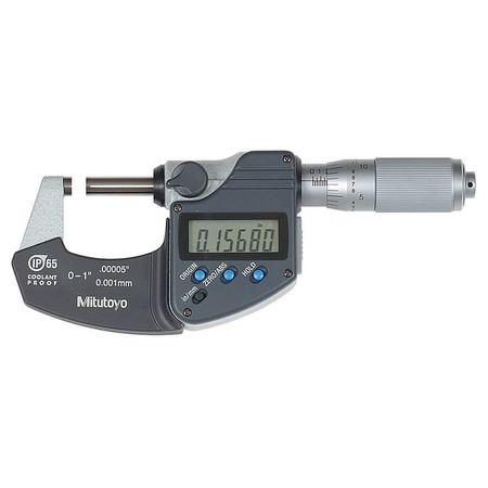 Mitutoyo Mic 0 1/0 25.4mm Friction NIST Case Type 293 335 30CERT