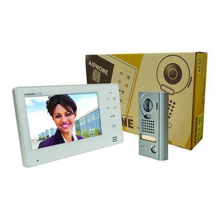 Video Intercom Station Kit Zinc by USA Aiphone Wired Intercom Systems