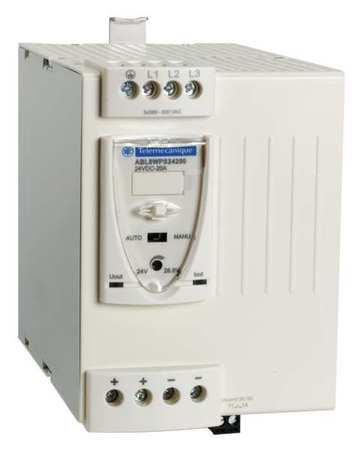 DC Power Supply 24VDC 20A 50/60Hz Model ABL8WPS24200 by USA Schneider Electrical AC DC Power Supplies