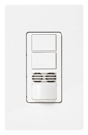 Dual Technology Occ Snsr 900sqft White by USA Lutron Infrared Motion Sensors