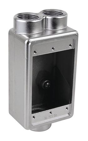 "Weatherproof Box 1Gang 3/4""Hub 18cu. in by USA Calbrite Electrical Weatherproof Boxes"