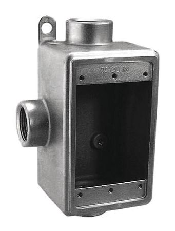 "Weatherproof Box 3Inlet 3/4""Hub 25cu. In by USA Calbrite Electrical Weatherproof Boxes"