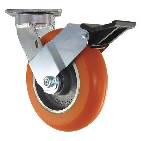 Value Brand Kingpinless Swivel Plate Caster Polyurethane 1200 lb