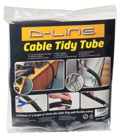 d line cable tidy tube black abs us ctt1 1 gr. Black Bedroom Furniture Sets. Home Design Ideas