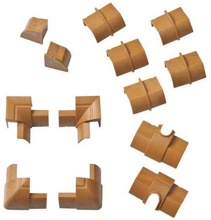Stainable Accessory Pack Brown by USA D Line Electrical Raceway Fittings