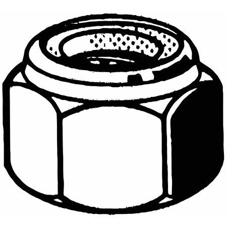 "FABORY U12411.062.0001 5//8/""-11 Grade 8 Yellow Zinc Finish Carbon Steel Nylon"