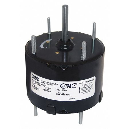 HVAC Motor 1/60 HP 3000 rpm 115V 3.3 Model D403 by USA Fasco HVAC 3.3 Inch Diameter Motors