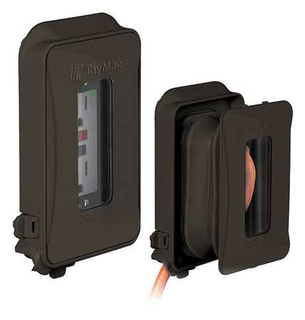 While In Use Weatherproof Cover Bronze by USA Taymac Electrical Weatherproof Box Covers