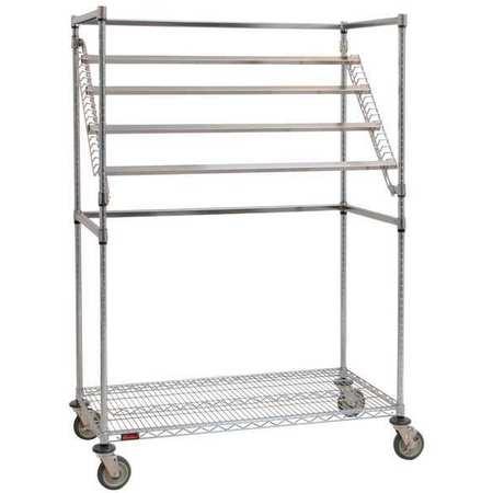 Value Brand Sterile Wrap Cart 48x68 Chrome 1 Shelf