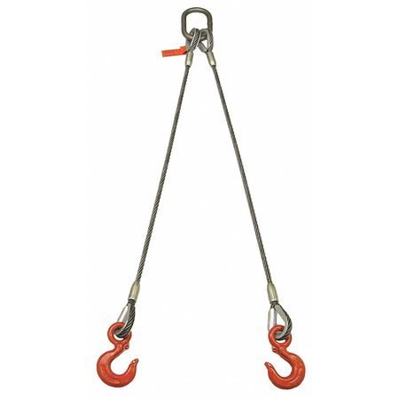 Lift-All Sling Wire Rope 17 Ft L 13600 Lb @ 60