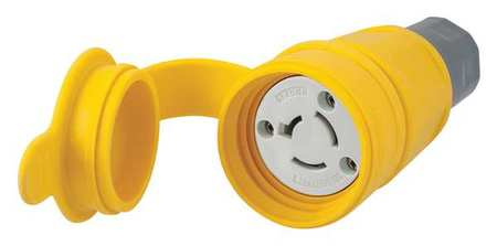20A Watertight Locking Connector 3P 3W 125/250VAC by USA Hubbell Kellems Electrical Locking Connectors