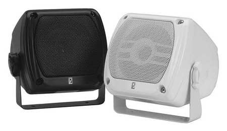 Outdoor Box Speakers Black 4in.D 40W PR by USA Poly Planar Audio Speakers