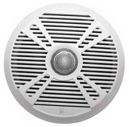 Outdoor Speakers White/Graphite 3in.D PR by USA Poly Planar Audio Speakers