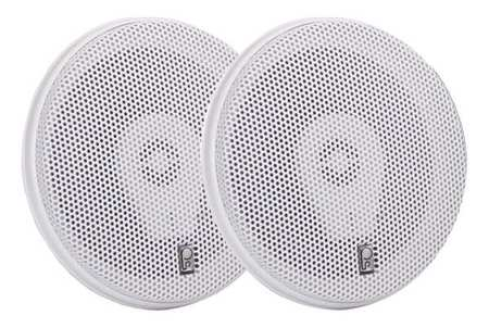 Outdoor Speakers White 2 1/2in.D 100W PR by USA Poly Planar Audio Speakers