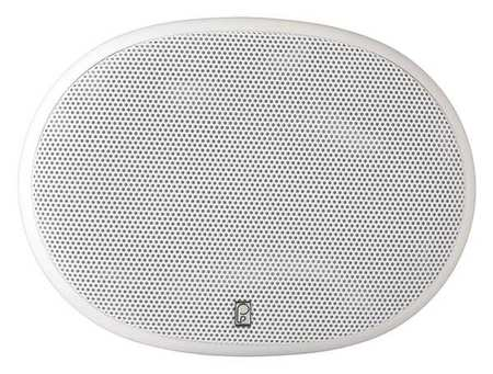 Outdoor Speakers White 3 19/64in.D PR by USA Poly Planar Audio Speakers