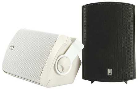 Outdoor Box Speakers Black 4 3/4in.D PR by USA Poly Planar Audio Speakers