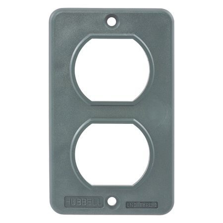 Outlet Box Plate For Duplex Receptacle by USA Hubbell Kellems Electrical Weatherproof Box Covers