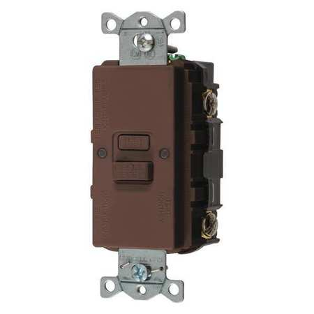 GFCI Receptacle 20A 125VAC 5 20R Brown by USA Hubbell Kellems Electrical GFCI Receptacles