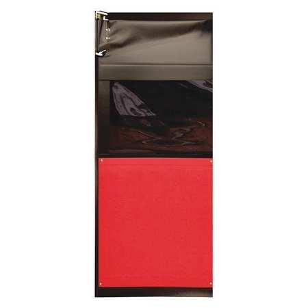Chase Flexible Swinging Door 8 x 3 ft Red PVC