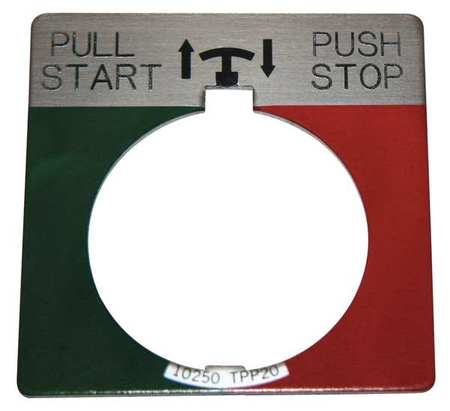 Legend Plate Push/Pull Start/Stop by USA Eaton Electrical Pushbutton Accessories