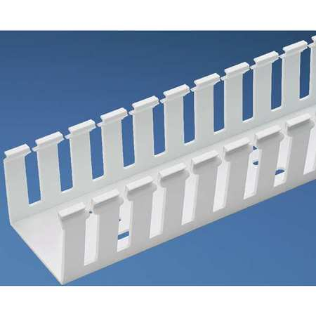 Wire Duct Wide Slot White 4.25 W x 5 D by USA Panduit Wiring Ducts