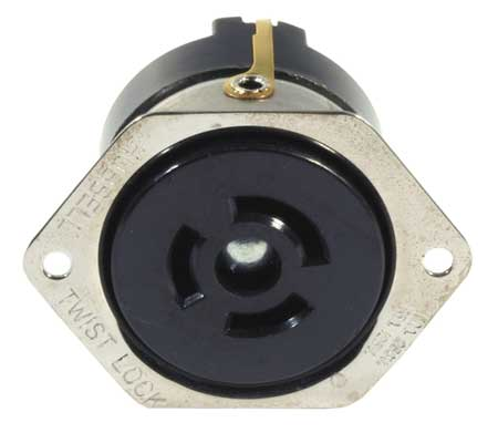 15/10A Flanged Locking Receptacle 2P 3W 125/250VAC by USA Hubbell Kellems Electrical Locking Receptacles
