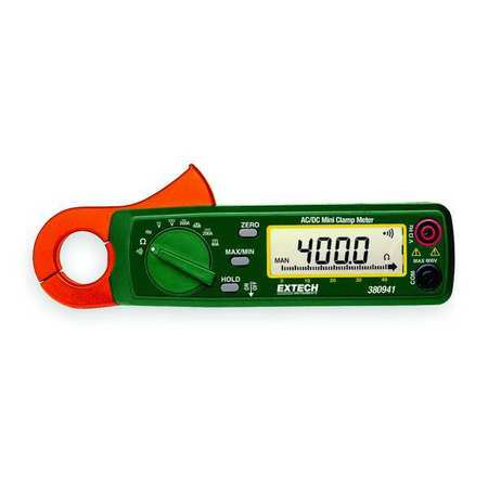 Clamp Meter 200A 400 Ohms by USA Extech Electrical Clamp Meters