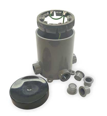 Floor Box Base PVC Round 90.0 cu. in. by USA Cantex Electrical Floor Boxes & Covers