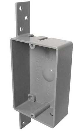 Electrical Box Shallow w/Bracket PVC by USA Cantex Electrical Boxes