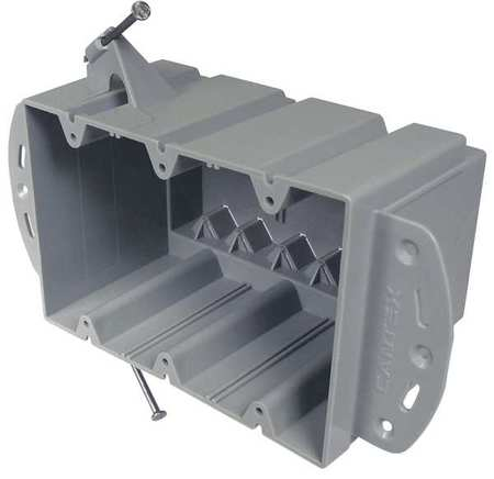 Electrical Box 3 Gang 74 cu in PVC by USA Cantex Electrical Boxes