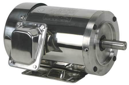 Washdown Motor 3 Ph TEFC 1 HP 1165 rpm by USA Dayton DC Washdown Motors