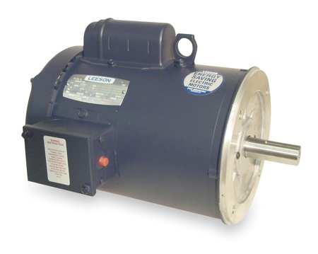 50 Hz Motor 2 HP 1440 220 V 182TC TEFC by USA Leeson AC 50 Hz Motors