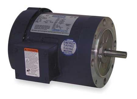 50 Hz Mtr 3 Ph 1/2hp 950 220/380 440 56C by USA Leeson AC 50 Hz Motors