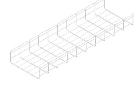 Wire Mesh Cable Tray 12x4In 10 Ft by USA Cablofil Wireways & Cable Trays