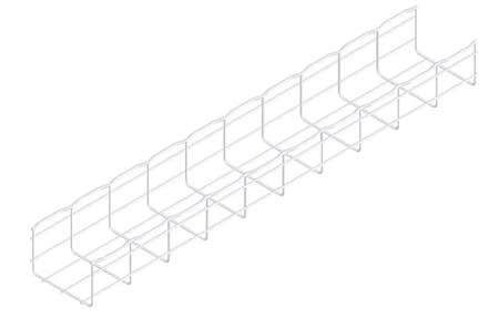 Wire Mesh Cable Tray 6x4In 10 Ft by USA Cablofil Wireways & Cable Trays