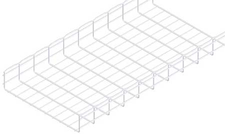 Wire Mesh Cable Tray 20x4In 10 Ft by USA Cablofil Wireways & Cable Trays