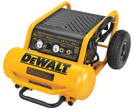 Dewalt D55146 1.6 Hp Continuous 200 Psi, 4.5 Gallon Compressor, 17 x 33.75 x 24.5