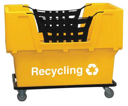 Value Brand Material Handling Cart Yellow Recycling