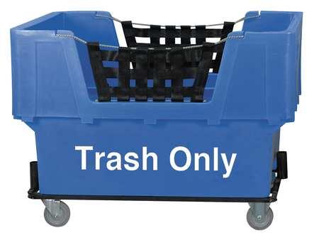 Value Brand Material Handling Cart Blue Trash Only