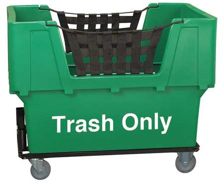 Value Brand Material Handling Cart Green Trash Only