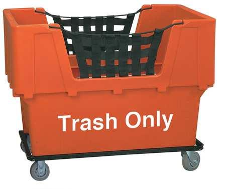 Value Brand Material Handling Cart Orange Trash Only