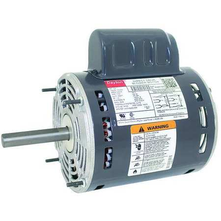 Motor PSC 1/2 HP 1100 115/230V 48Y OAO by USA Dayton Direct Drive Permanent Split Capacitor Blower Motors