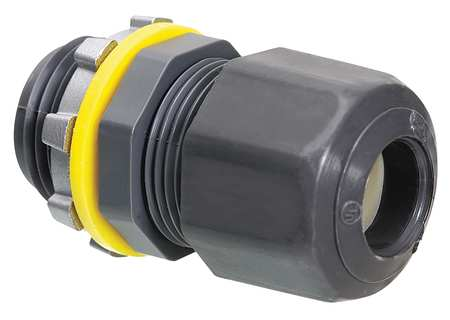 Liquid Tight Connector 3/4 in. Gray by USA Arlington Electrical Strain Relief Connectors