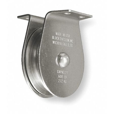 Value Brand Pulley Block 800 lb. Sheave OD 3 In.
