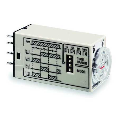 Time Delay Relay 120VAC 5A DPDT Square by USA Omron Electrical Time Delay Relays